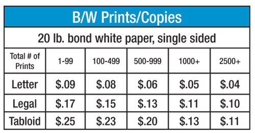 prices for copies copy works in juneau ak